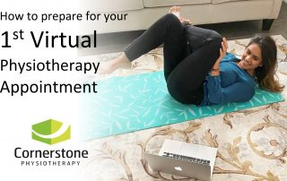 virtual physiotherapy appointment patient practicing exercises