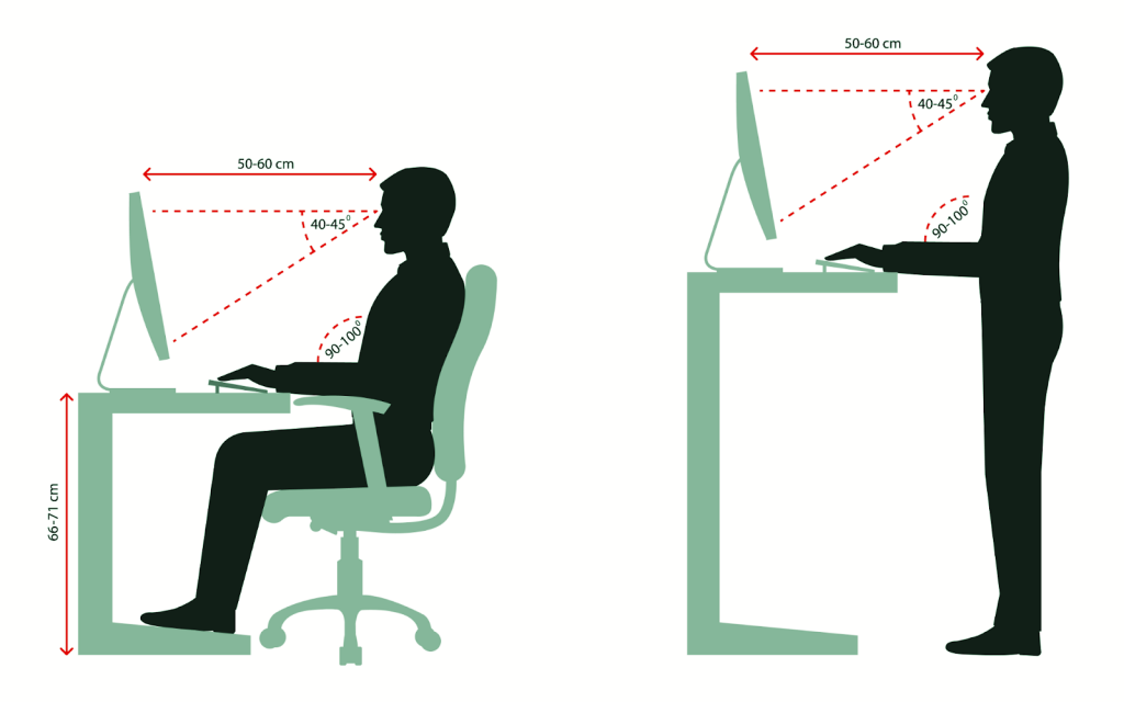 proper ergonomics for monitor height