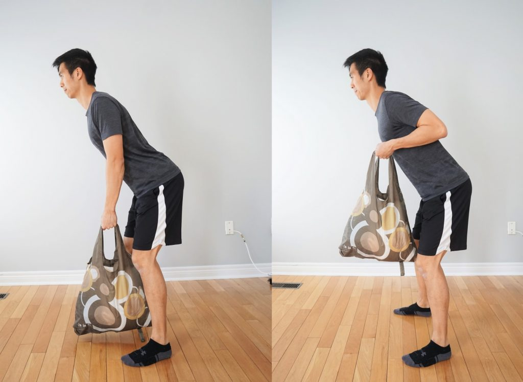 BENT OVER ROW with a bag