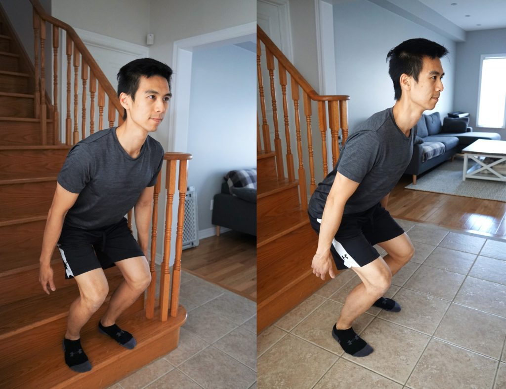 box jumps stairs