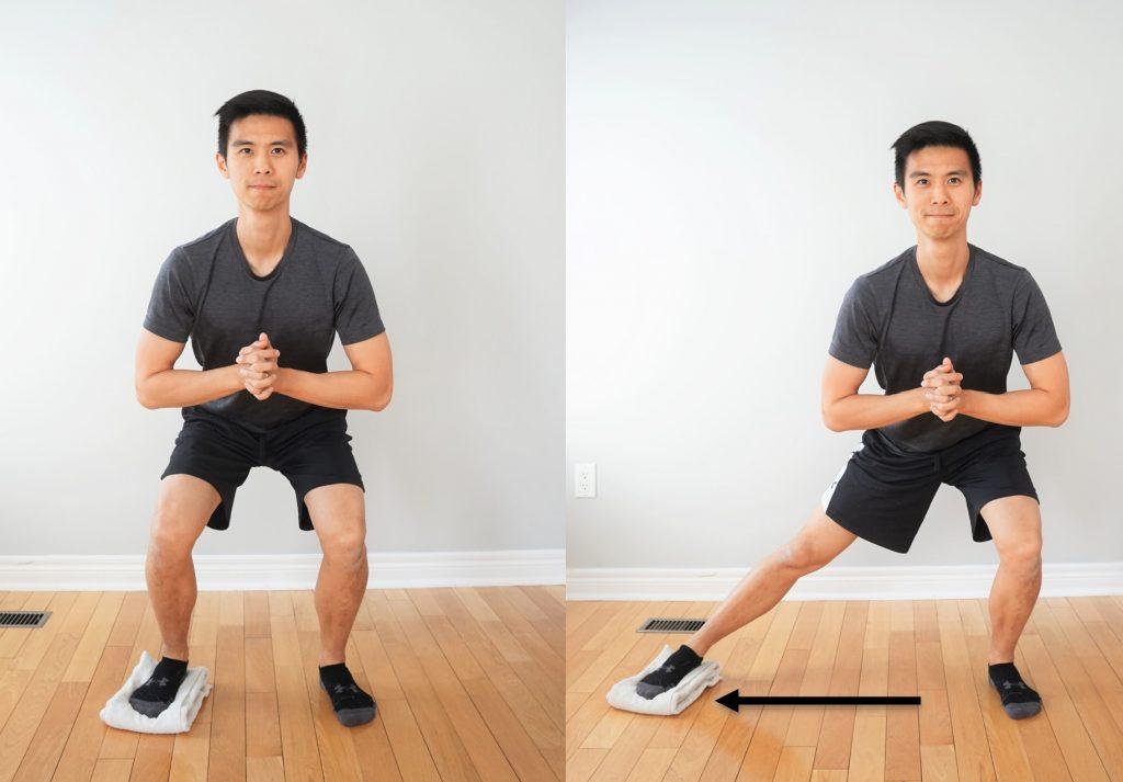 squat slide at home