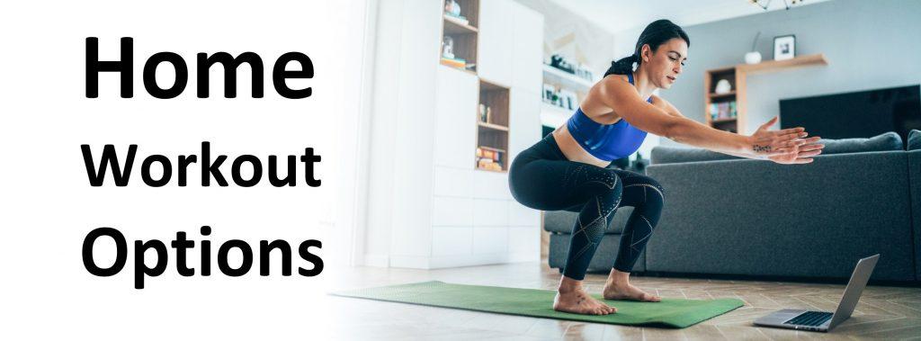 choosing a home workout using a computer